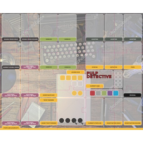 Pulp Detective: Player mat
