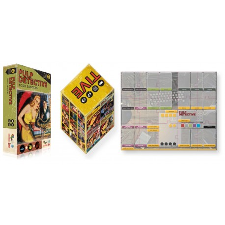 Pulp Detective expansion 3 + Slip Case box + Player mat